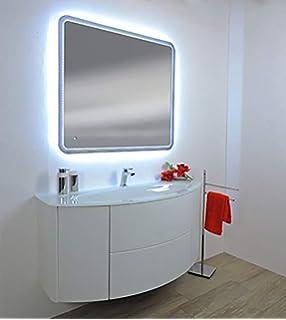 Arredo Bagno sospeso 90 cm mobile lavabo in cristallo Mobili colori ...