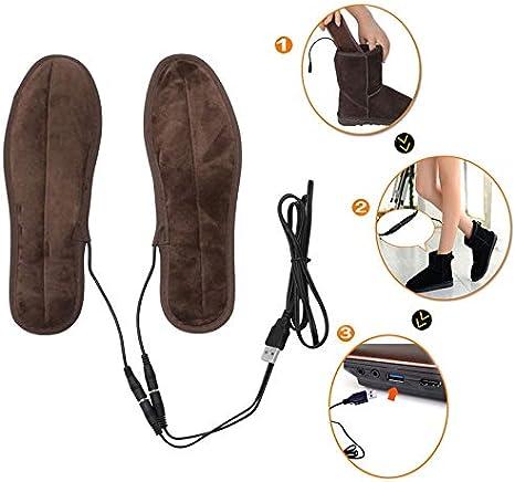 TLEOXS Nuevo USB Electric Powered Calefacción Plantillas Invierno Mantener el Calzado Calzado Zapatos Plantilla Plantilla Plantilla Plantilla
