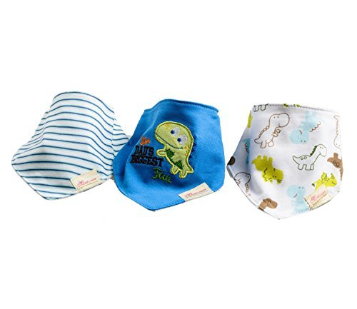 Carlyle 3pack Baby Bandana Drool Bibs with Snaps Chrysanthem