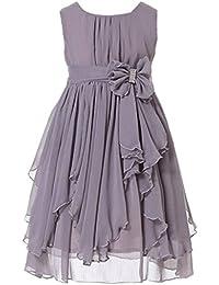 Flower Girl Dress Ruffled Chiffon