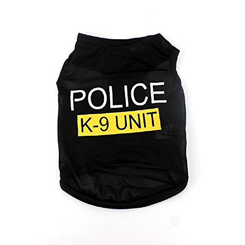 [Small Dog Cat Vest Police Puppy T-Shirt Pet Clothes (M)] (Dachshund Tootsie Roll Costume)