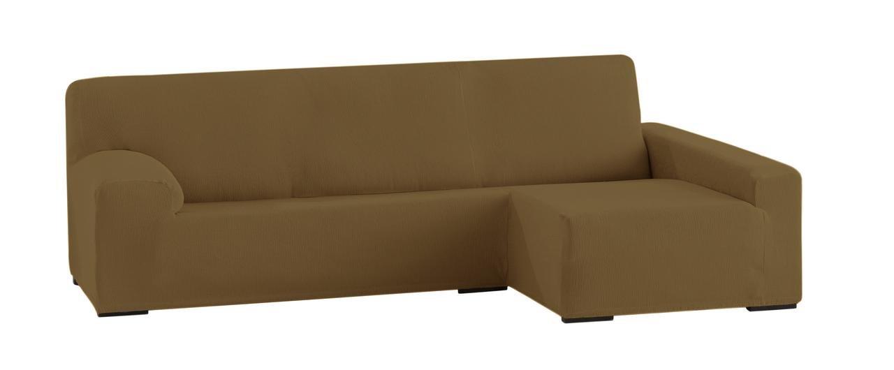 Colour 00-Ecru Polyester-Cotton 250-310 cm Eysa Ulises Elastic Chaise Longue Cover Right Front View