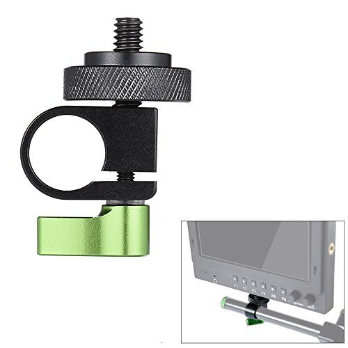 Andoer 15mm Single Rod Clamp Kit 1/4'' Thread Screw for DSLR Camera Camcorder Video Rail Support System