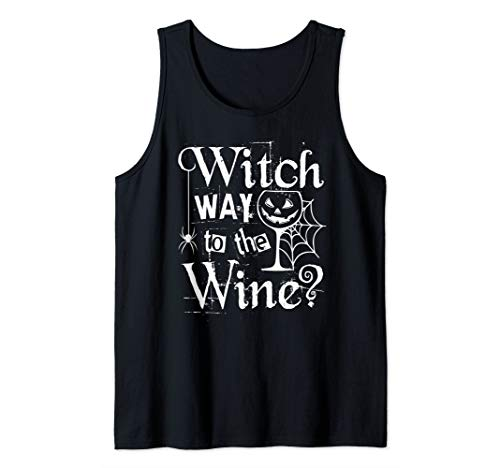 Funny Halloween Witch Wine Party Gift Easy Costume Tank -