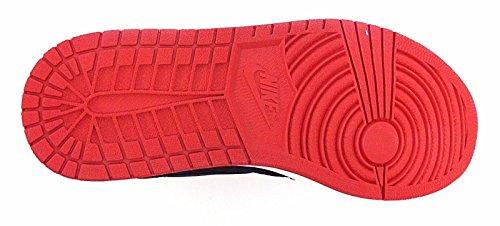 Nike Heren Air Jordan 1 Mid Basketbalschoen Zwart / Zwart-gym Rood-sail