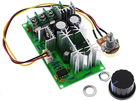 Redcolourful 20A PWM DC Motor Speed Controller 12V 24V 36V 48V //w Potentiometer Knob Switch