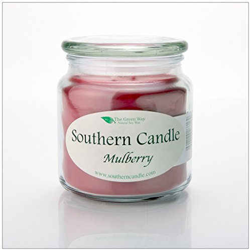 (Mulberry 16 oz Decorator Jar Natural Soy Wax)