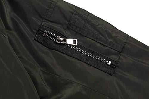 Blau Giovane Corto Fashion Giacche Pilot Tempo Ragazze Zip Outwear Elegante Lunghe Donna Navy Libero College Baseball Jacket Primaverile Autunno Women Maniche Giacca gBpB1xvq