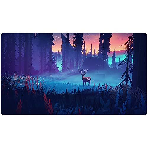 Extended Gaming Mouse Pad Custom Design Computer Gaming Mouse Mat with Smooth Surface XXL Large Size Desk Pad with Non-Slip Rubber Base Ideal for Keyboard, PC and Laptop (90X40 ()