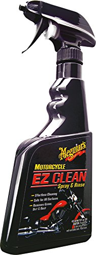 Meguiar's Motorcycle EZ Clean Spray & Rinse - Easy All-Surface Motorcycle Cleaning - MC20016, 16 oz