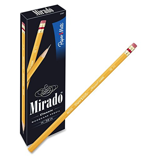 - Paper Mate Mirado Classic Pencils, Wood, HB #2, 12 Count