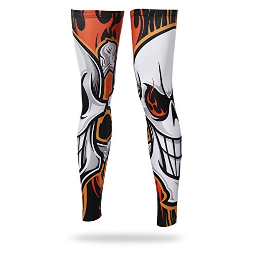 Ophelia Outdoor Unisex Cycling Sun Protective Uv Cover Compression Leg Sleeves-4 Colors