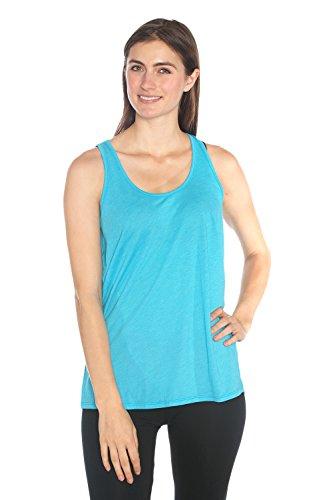 led Plastic Racerback Tank - Women's Organic Yoga Clothes, Non GMO, Eco friendly (Organic Yoga Clothing)