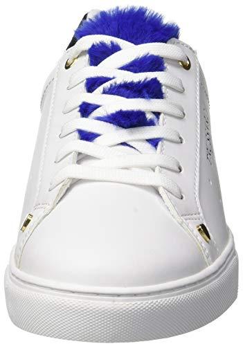 Trussardi da Overseas Scarpe Donna U240 Fur Jeans Lapin Blu Blu Ginnastica Tongue Sneakers SSOArq
