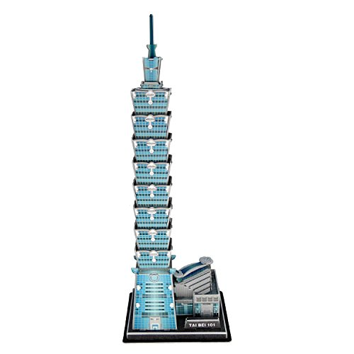 Price comparison product image Creative 3D Puzzle Paper Model Taipei 101 DIY Fun & Educational Toys World Great Architecture Series,  49 Pcs