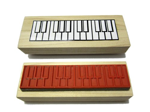 Two Octave Piano Fingering Rubber Stamp