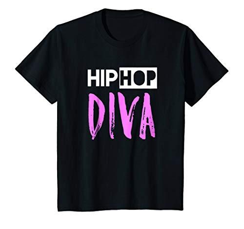Kids Hip Hop Dance Diva Tshirt 6 Black by Hip Hop Dance Shirts by Zee