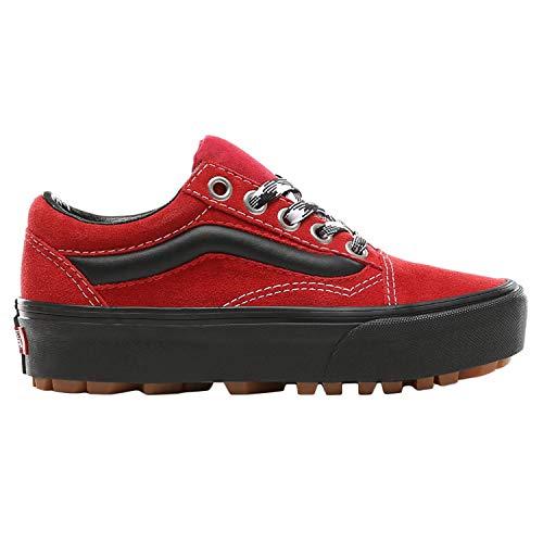 Lug Vans Chili Pepper 90s Black Shoes Old Skool Platform Retro EE7qBFw