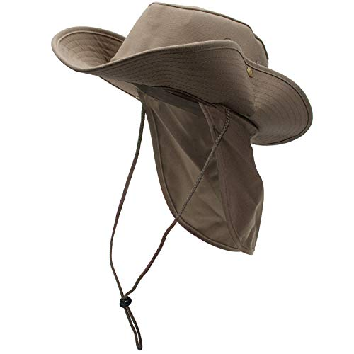 2c341b208618a3 Altanius Sun Hat for Men/Women, Summer Outdoor UPF 50+ Sun Protection Wide  Brim Bucket Hat Breathable Packable Boonie Hat with Neck Flap for Safari  Fishing ...
