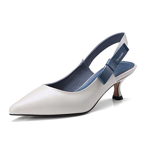 Mei S Sandaler Hvide Tå Kvinder Stiletter Ris Spidse 44xqgrw5O
