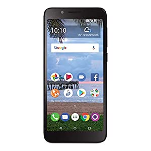 TracFone Carrier-Locked TCL LX 4G LTE Prepaid Smartphone – Black – 16GB – Sim Card Included – CDMA