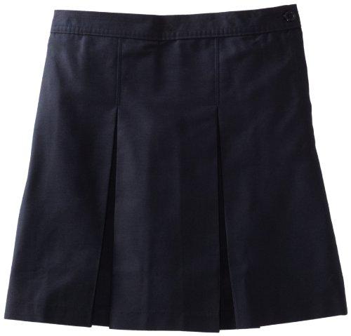 Girls Traditional Pleat Skirt - Classroom Big Girls' Kick Pleat Skirt, Navy Blue, 16