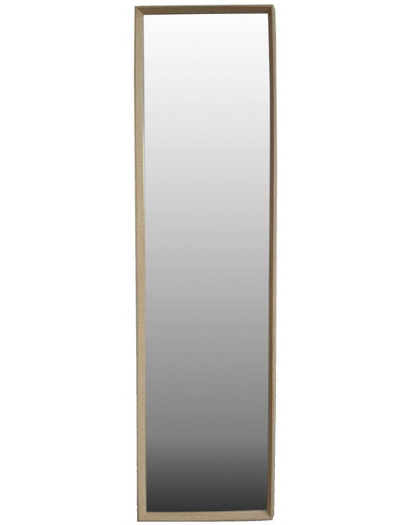 Hogar y Mas Miroir Beige Porte Naturel de Bois de H/être pour la Chambre /à Coucher Maison et Plus Le Design Nordique