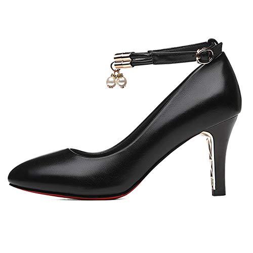 Hochzeit Für Heels High Pumps Spitze Schuhe Elegante Frauen Kleid Abend Stilett Zehen Schnalle Kleid Knöchel Büroarbeit waq6PnBIx