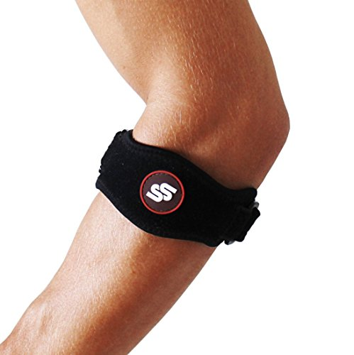 #1 Best Tendonitis Tennis & Elbow Brace With Compression Pad for Men & Women - For Great Support & Pain Relief Against Epicondylitis - Premium Quality! One Size. 1-pack. (Treatment Stress Relieving)