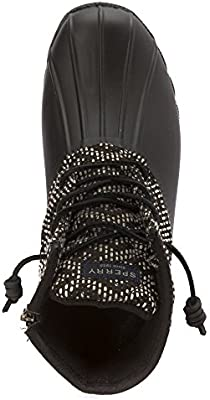 Sperry Top-Sider Women/'s Saltwater Print Black White Tribal Weave Boot PICK SIZE
