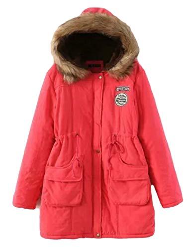 Coat Women's Parka TTYLLMAO Coat Long Fur Winter Hooded 6 Warm Collar Outwear fww1qv