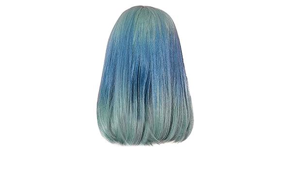 Finanoco - Peluca de pelo liso para mujer, color verde menta ...