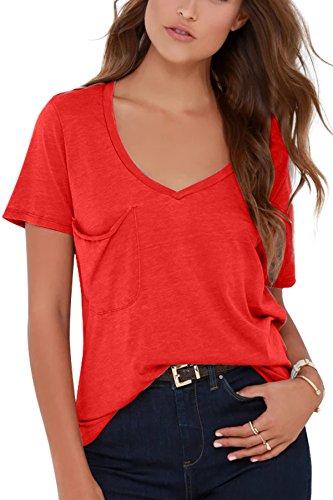 Corta T Red JL Shirt Donna amp;LJ Manica IBwx1q0P