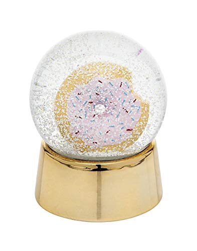 Philip Whitney Snow Globe Donut Shape with Gold Base Medium