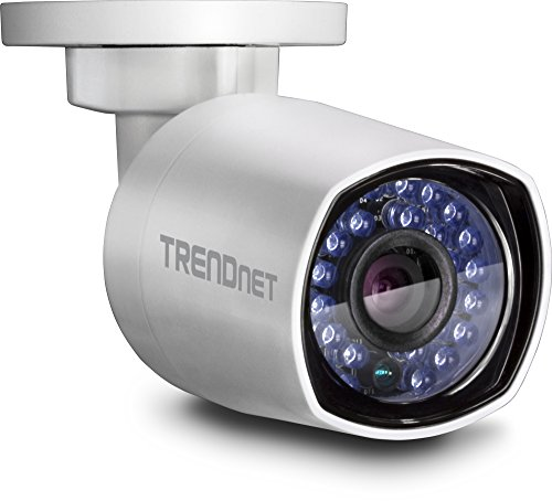 TRENDnet Indoor/Outdoor 4 Megapixel HD PoE Bullet Style Day/Night Network Camera, Digital WDR, 2688 x 1520p, Smart IR, IP66 Rated Housing, Up to 100ft. Night Vision, ONVIF, IPv6, TV-IP314PI (Network Camera Housing)