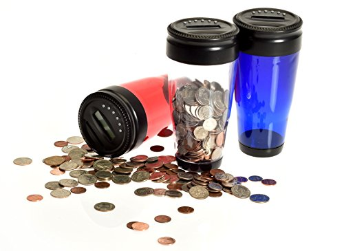 Digital Coin Tumbler - Coin Counter Change Organizer fits Car Cup Holders Cars - Automatically Totals the Value of U.S. Coins Photo #8