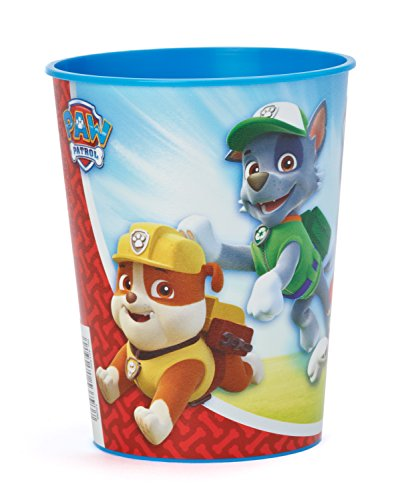 Amazing Paw Patrol Birthday Party Plastic Favour Cup  (1 Piece), Blue/Red, 16 oz..