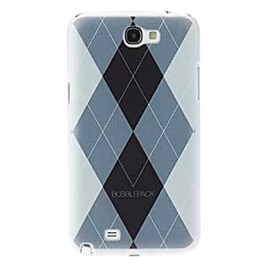 MOM Rhombus Pattern Hard Case for Samsung Galaxy Note 2 N7100