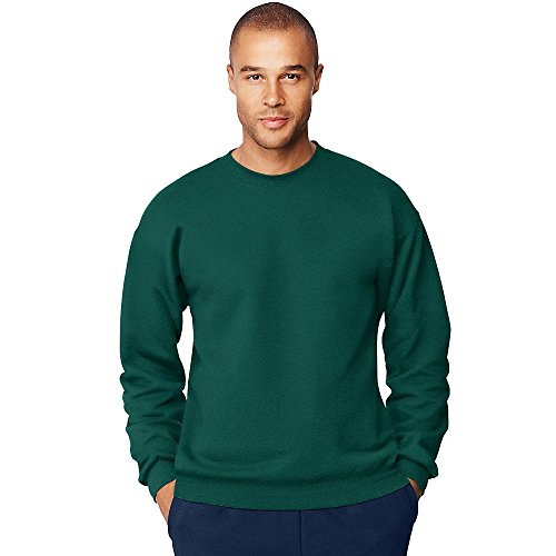 Hanes Men's Ultimate Cotton Heavyweight Crewneck Sweatshirt_Deep - Sweatshirt Hanes Heavyweight