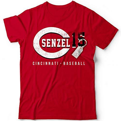 Senzel No. 15 Reds Baseball Fielder Baseman Players Field Home Run Champions Jersey Customized Handmade T-Shirt Hoodie/Long Sleeve/Tank Top/Sweatshirt