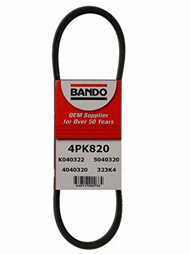 BANDO Replacement for Honda Civic 1.6 dx lx gx hx ex 1996 1997 1998 1999 2000 Three piece set 4PK800 BANDO 4PK820 BANDO 4PK845 OEM Quality Serpentine Drive Belt Pulley Set COMPLETE DRIVE BELT SET