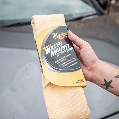 Meguiars X2000eu Water Magnet Microfiber Drying Towel Trockentuch Wassermagnet X3070 Soft Foam Applicator Pads Auftragsschwamm 2 Er Pack Auto