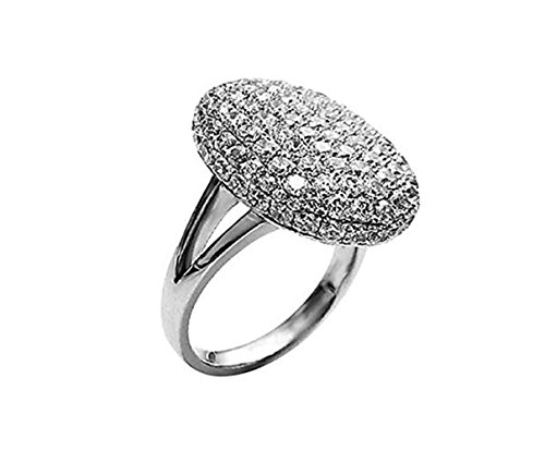 (Dream-Store Women's Silver-Tone Sparkle Bella Swan Engagement Ring (6))