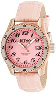 Ritmo Mundo Women's 233 RG Pink MOP Extreme Quartz Mother-Of-Pearl Dial Watch