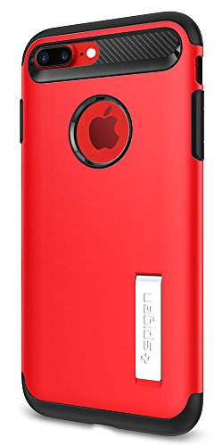 Spigen Slim Armor iPhone 8 Plus / iPhone 7 Plus Case with Kickstand and Air Cushion Technology Hybrid Drop Protection for Apple iPhone 8 Plus (2017) / iPhone 7 Plus (2016) - Crimson Red