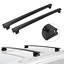 Roof Rack Cross Bar Cargo Carrier for 2011 2012 2013 2014 2015 2016 2017 2018 Jeep Grand Cherokee with Chrome Side Rail