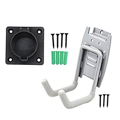 MUSTART Hook and Holster Dock Combination, Charging Station Accessories for SAE J1772 Connector EVSE Electric Vehicle Charger Plug Holder Storage