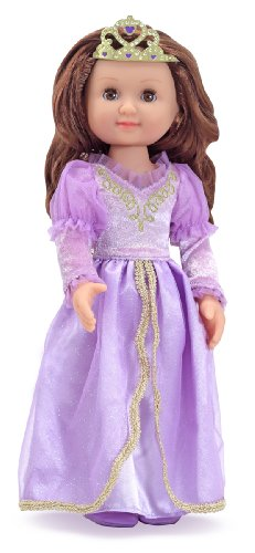 Melissa & Doug Larissa 14-Inch Poseable Princess Doll With Purple Gown and Tiara