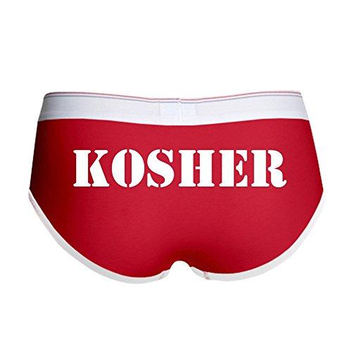 CafePress - Kosher Women's Boy Brief - Women's Boy Brief, Boyshort Panty Underwear with Novelty Design Red/White
