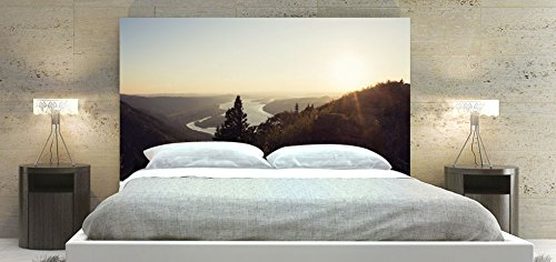 Upholstered Headboard Panel, Fabric, Delta Gorge Theme Print (King Bed: 78 x 36 inch)